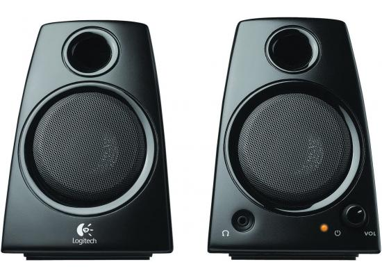 Logitech Z130 3.5mm Jack Compact Laptop Speakers - Black
