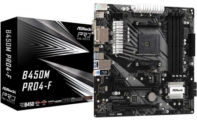 ASRock AMD B450M Pro4 Ryzen MicroATX Motherboard