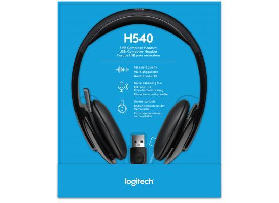 Logitech H540 USB Connector Supra-Aural Headset