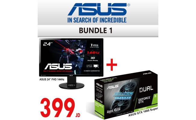 """Bundle 1 ( ASUS VG248QE 24"""" 144Hz 1ms + ASUS GTX 1660 SUPER )"""