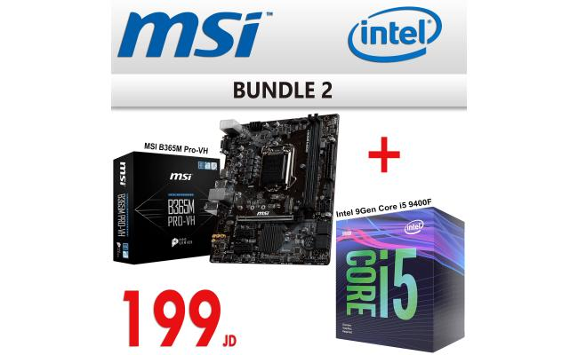 Bundle 2 ( MSI B365M PRO-VH Mainboard + Intel 9Gen Core i5 9400f )