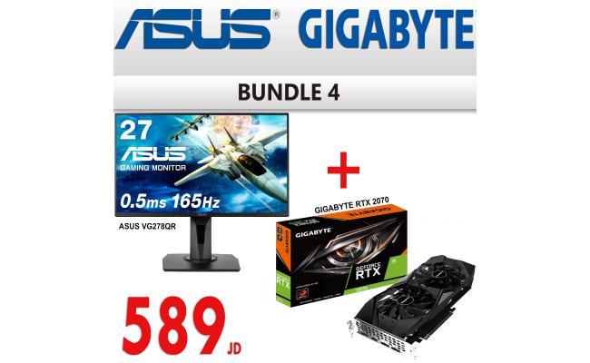 "Bundle 4 ( ASUS VG278QR 27"" 165Hz .5ms + Gigabyte RTX 2070 8GB )"