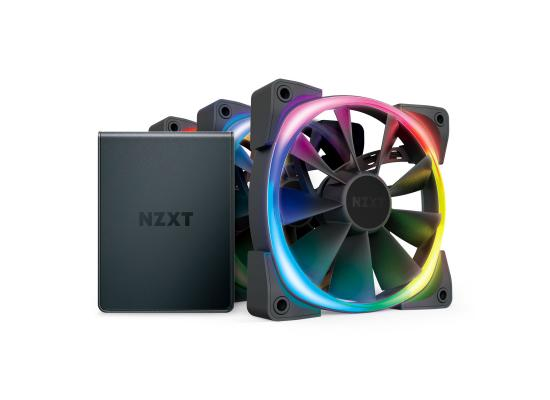 NZXT 120mm Aer RGB 2 Premium PWM Fan Triple Pack w/ Hue 2