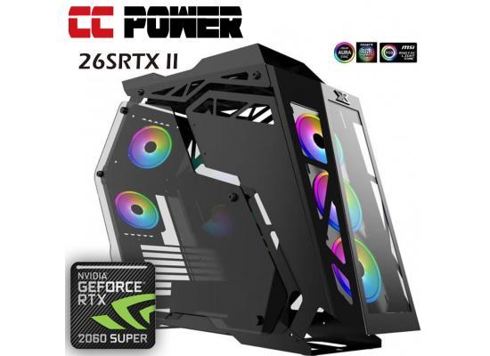 CC Power 26SRTX II Gaming PC AMD Ryzen 7 w/ RTX 2060 SUPER