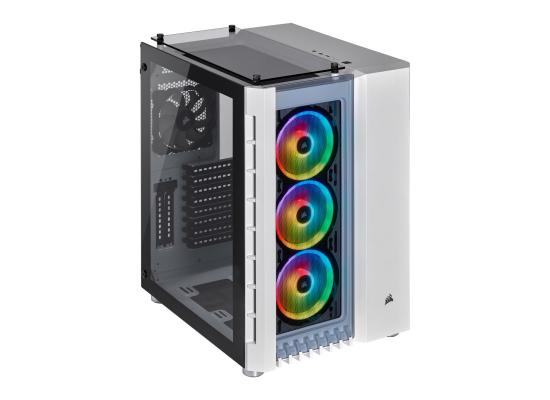 Corsair Crystal 680X RGB Smart White Glass Cube Gaming Case