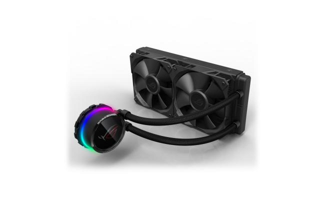 ASUS ROG Ryuo 240 mm AIO OLED RGB CPU Water Cooler