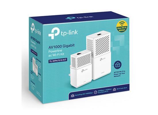 TP-Link TL-WPA7510 KIT AV1000 Powerline WiFi Extender AC Kit