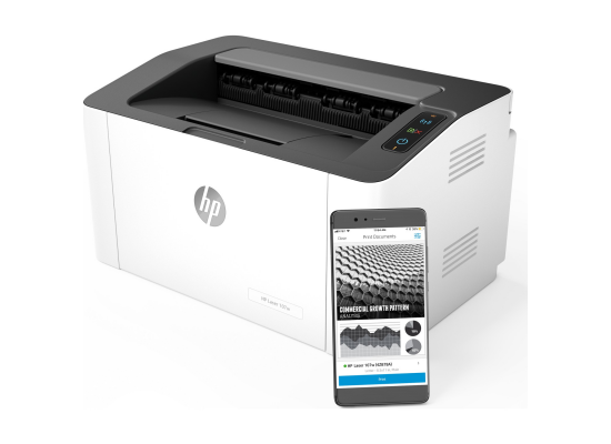 HP Laserjet 107w A4 Mono Laser Printer - Wireless