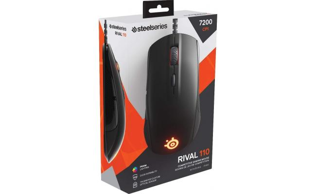SteelSeries Rival 110 Gaming Mouse RGB Lightweight Design