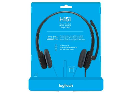 Logitech 3.5mm Analog H151 with Boom Microphone - Black