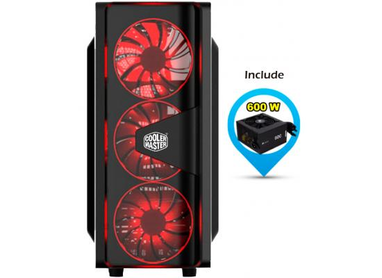 Cooler Master CMP505 RED LED EDITION + MWE 600W