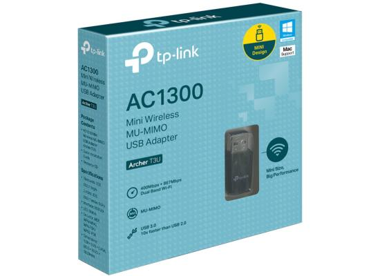 TP-Link Archer T3U AC1300 USB 3.0 Dual Band 5 GHz Wireless Dongle