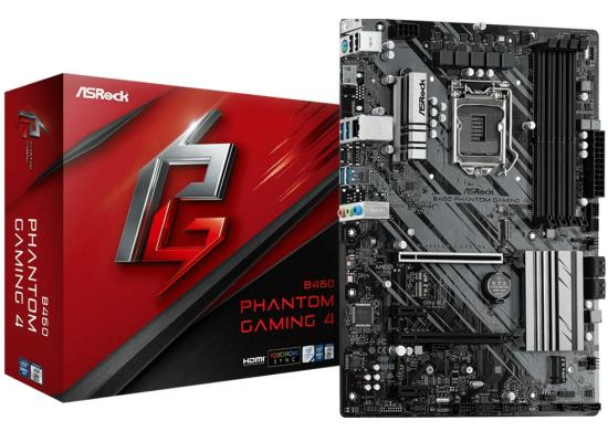 ASROCK B460 PHANTOM GAMING 4 Intel B460 DDR4 ATX Motherboard