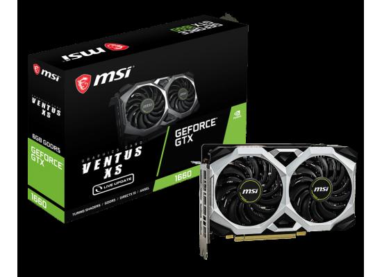 MSI NVIDIA GeForce GTX 1660  VENTUS XS 6GB GDDR5