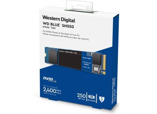 WD Blue SN550 NVMe M.2 2280 250GB PCI-Express 3.0 x4 3D NAND