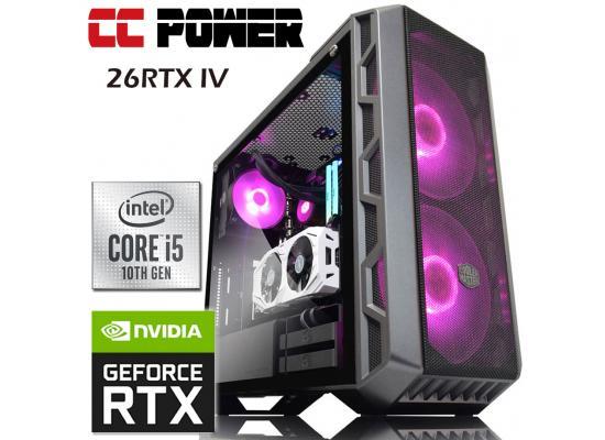CC Power 26RTX IV Gaming PC 10Gen Core i7 w/ RTX 2060 6GB