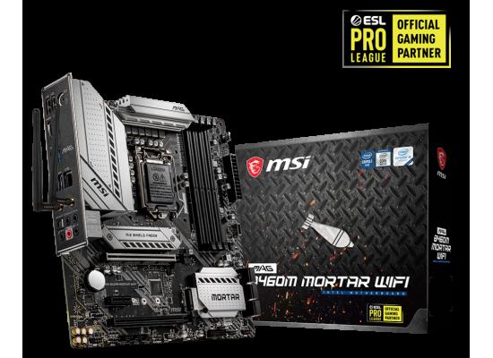 MSI MAG B460M Mortar WiFi Gaming Intel B460 Motherboard