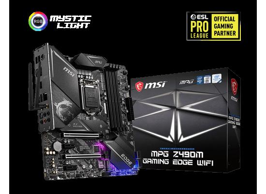 MSI MPG Z490M Gaming Edge WiFi Intel Z490 Gaming Motherboard