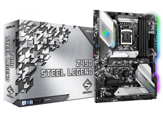 ASRock Z490 Steel Legend Intel Z490 RGB Dual M.2 Mainboard