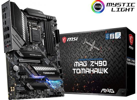 MSI MAG Z490 Tomahawk Gaming Intel Z490 Dual M.2 Mystic Light RGB