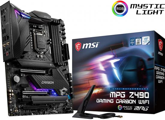 MSI MPG Z490 Gaming Carbon WiFi Dual M.2 Wi-Fi 6 Mystic Light RGB