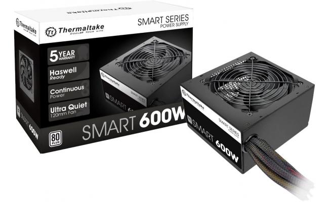 Thermaltake SMART 600W 80 PLUS Certified Active PFC Power Supply