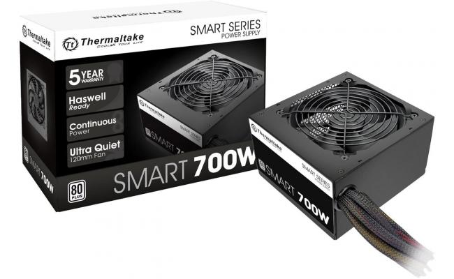 Thermaltake SMART 700W 80 PLUS Certified Active PFC Power Supply
