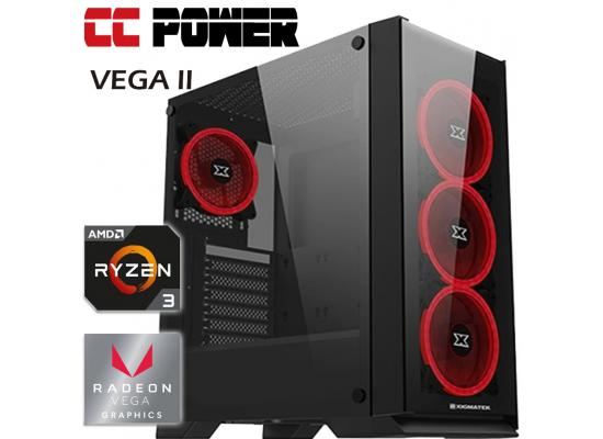 CC Power VEGA II Gaming PC RYZEN 3 w/ VEGA 8 Graphic
