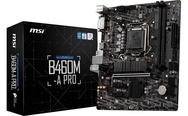 MSI B460M-A PRO ProSeries Intel B460 M.2 Mainboard