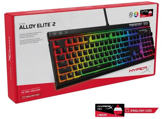 HyperX Alloy Elite 2 RGB Mechanical Gaming Keyboard - HyperX Switches