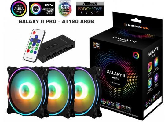 Xigmatek Galaxy II Pro ARGB Fans (3 Fan Pack) w / Remote
