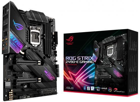 ASUS ROG Strix Z490-E Gaming Z490 (WiFi 6) Intel Z490 Dual M.2 RGB