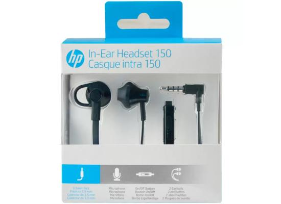 HP Earbuds Black Headset 150  In-ear with Mic - Black