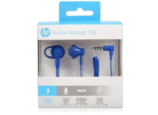 HP Earbuds Black Headset 150  In-ear with Mic - Blue