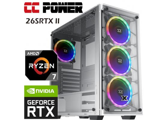 CC Power 26SRTX II Gaming PC AMD Ryzen 7 w/ RTX 2060 SUPER