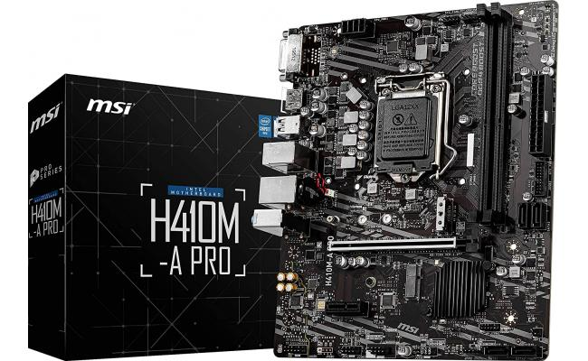 MSI H410M-A PRO Intel H410 M.2 Micro ATX Motherboard