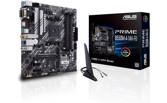 ASUS Prime B550M-A WiFi AMD B550 PCIe 4.0 WiFi 6 RGB Mainboard