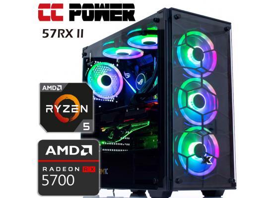 CC Power 57RX II Gaming PC PC RYZEN 5 w/ RX 5700 8GB