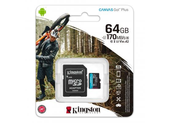 Kingston 64GB SDXC Canvas Go Plus UHS-I C10 U3 V30