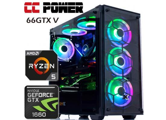 CC Power 66GTX V Gaming PC RYZEN 5 w/ GTX 1660 6GB