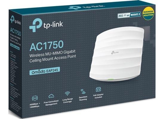 TP-Link Omada EAP245 AC1750 Wireless Access Point Gigabit Poe Powered