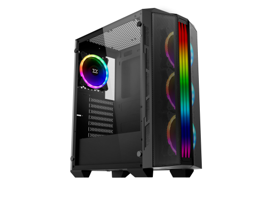 Xigmatek Trident Front Meshed & Tempered Glass RGB Gaming