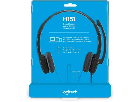 Logitech H151 Stereo Headset w/ Mic 3.5mm Audio Jack