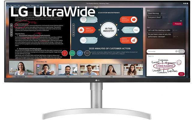 "LG 34WN650-W 34"" UltraWide Full HD IPS 75Hz HDR400 AMD FreeSync"
