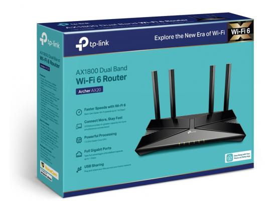 TP-Link Archer AX20 WiFi 6 Router AX1800 Smart WiFi Router