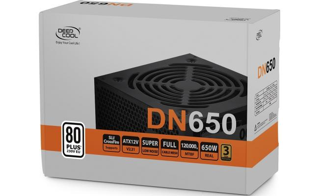 DeepCool DN650 650W 80+ ATX Power Supply Black