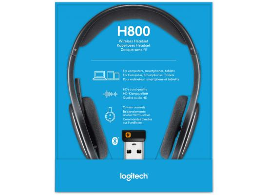 Logitech H800 Bluetooth Wireless Headset with Mic - Black