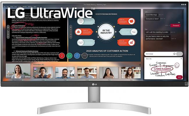 """LG 29WN600-W 29"""" UltraWide 75Hz WFHD IPS HDR10 FreeSync"""