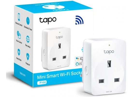 TP-Link Tapo P100 Smart Plug Wi-Fi Outlet Remote Control Timer Switch