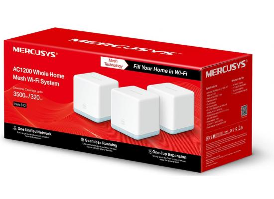 Mercusys Halo S12 AC1200 Mbps Whole Home Mesh Wi-Fi System (3-Pack)